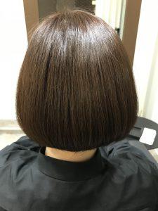 髪質改善トリートメント 施術後